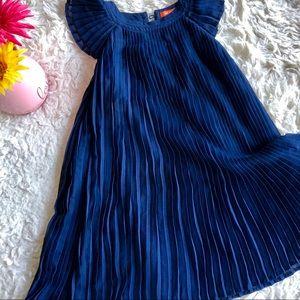 Girls Navy Blue Pleated Dress Size 5